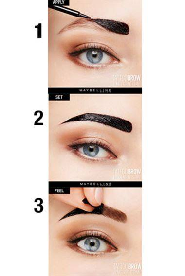 Tattoo brow peel off tinted semi permanent eyebrows maybelline medium brown solutioingenieria Images