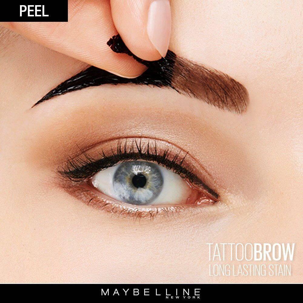 Tattoo brow peel off tinted semi permanent eyebrows for Semi permanent tattoo eyebrows